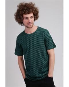Футболка Yarn Dyed Baby Stripe Tee Dark Fresh Green Black S Urban classics