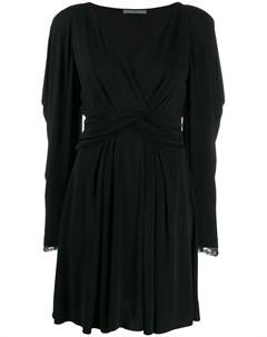 Платье с кружевными рукавами Alberta ferretti