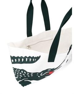 сумка тоут с логотипом Lacoste