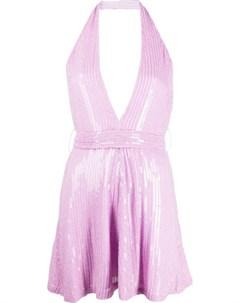 Платье мини с пайетками Misha collection