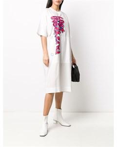 Платье футболка с графичным принтом Bernhard willhelm