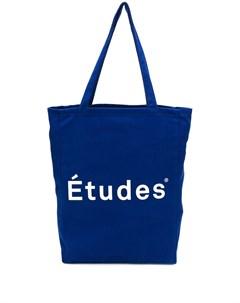 сумка шоппер с принтом логотипа Études