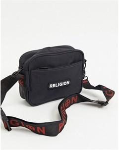 Черная сумка через плечо с логотипом Religion