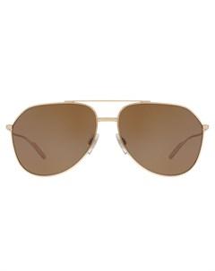 Затемненные солнцезащитные очки авиаторы Dolce & gabbana eyewear
