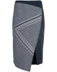 Асимметричная юбка с геометрическим узором Voz