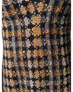 Твидовое платье миди со вставками Victoria beckham
