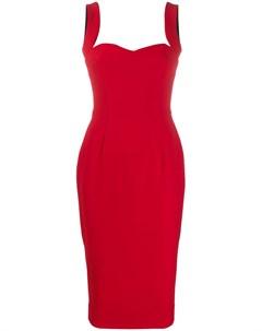 Платье миди с вырезом в форме сердца Victoria beckham