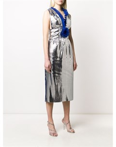 Платье миди с оборками Marco de vincenzo