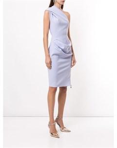 Платье на одно плечо с драпировкой Maticevski