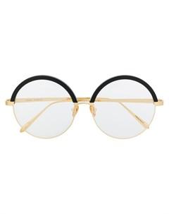 очки в круглой оправе Linda farrow