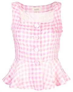 Клетчатая блузка без рукавов Isa arfen