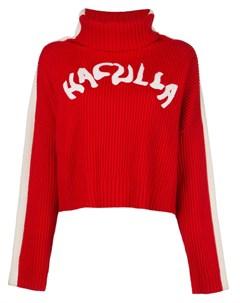 Джемпер Nouveau в рубчик с логотипом Haculla