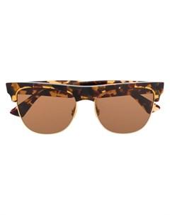 Солнцезащитные очки черепаховой расцветки Bottega veneta eyewear