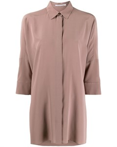 Крепдешиновая рубашка оверсайз Agnona