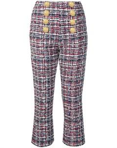 Твидовые брюки с пуговицами Balmain