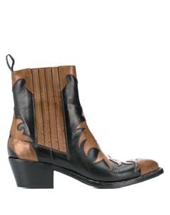 Ковбойские ботинки с аппликацией Sartore