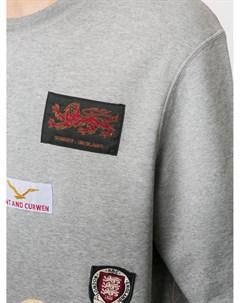 Толстовка с нашивкой логотипом Kent & curwen