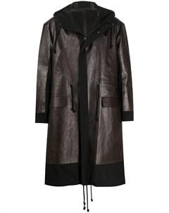 Пальто средней длины со вставками Undercover
