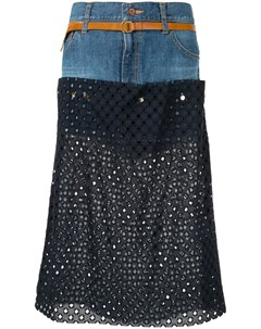 Джинсовая юбка с перфорацией Kolor