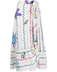 Длинная юбка с запахом Mira mikati