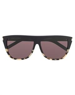 Солнцезащитные очки черепаховой расцветки Saint laurent eyewear