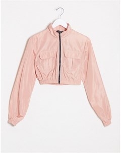 Розовая олимпийка в стиле милитари Розовый Naanaa