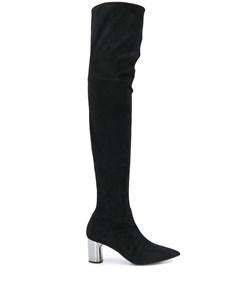 ботфорты на каблуке с эффектом металлик Casadei