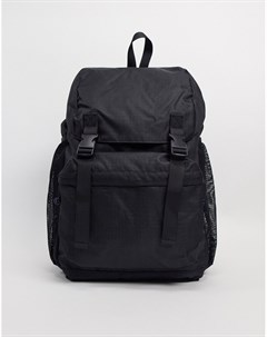 Черный рюкзак в стиле милитари Topman