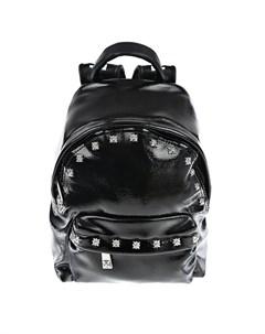Черный рюкзак из эко кожи 20x23x15 см John richmond
