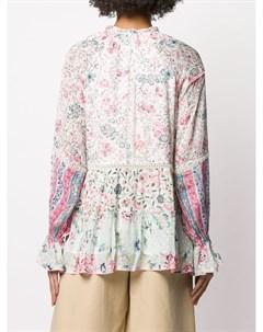 Блузка с цветочным принтом Hemant & nandita