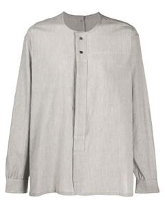 поплиновая рубашка в тонкую полоску The viridi-anne