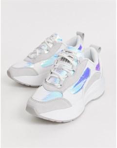 Белые кроссовки на толстой подошве со шнуровкой Sixty Seven Sixtyseven