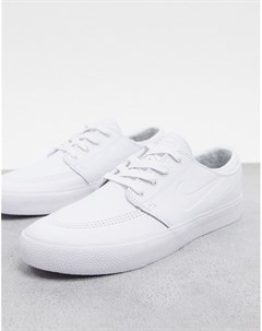 Белые кожаные кроссовки Zoom Janoski Nike sb