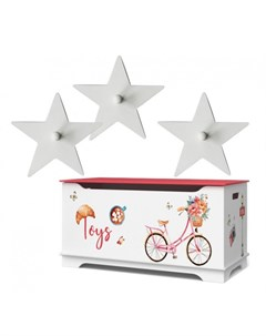Маленький ящик для игрушек Путешествие в Париж с крючком Continent decor
