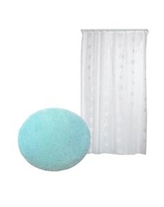Miami Коврик для ванной комнаты со шторкой Aqua Prime 799D1 Confetti