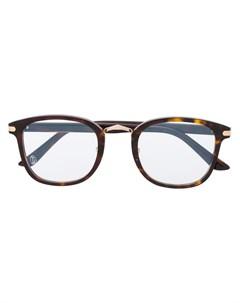 очки в квадратной оправе Cartier eyewear