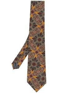 галстук 1990 х годов с абстрактным принтом Gianfranco ferre pre-owned
