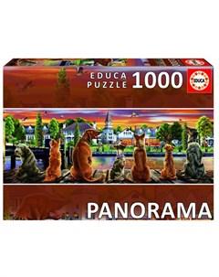 Пазл панорама Собаки на набережной 1000 деталей Educa