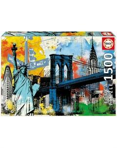 Пазл Символы Нью Йорка 1500 деталей Educa