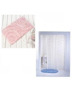 Коврик для ванны Akryl Wave 60х100 см со шторами для ванн Aqua Prime Castafiore