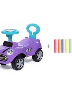 Каталка Speedrunner музыкальный руль с цветными мелками Brauberg Baby care