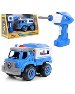 Конструктор скрутка на радиоуправлении Полицейская машина со звуком Drift