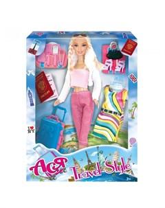 Кукла Ася Блондинка с косичками Путешественница Toys lab