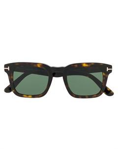 Солнцезащитные очки черепаховой расцветки Tom ford eyewear