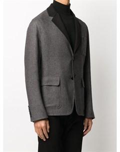 Кашемировый пиджак с вышитым логотипом Billionaire