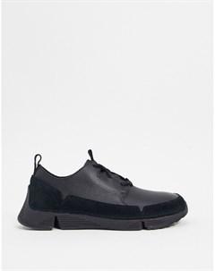 Черные кроссовки Clarks