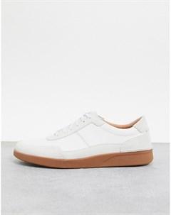 Белые кроссовки Clarks