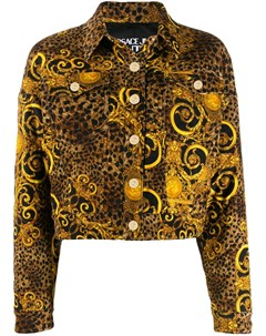 жакет с леопардовым принтом Versace jeans couture