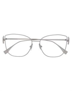 очки в прямоугольной оправе с логотипом Fendi eyewear
