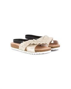 сандалии с перекрестными ремешками и сборками Andorine